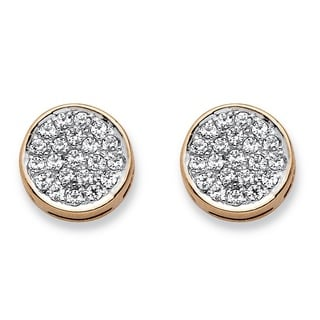 PalmBeach 10k Yellow Gold 1/4ct TDW Diamond Cluster Stud Earrings