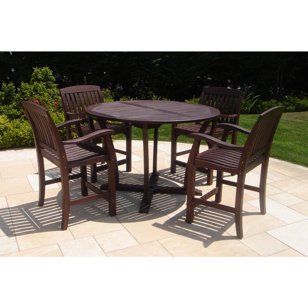 Roble Wood 5-piece Bar High Dining Set