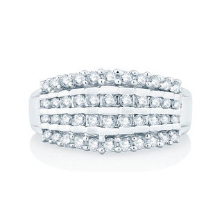 10k White Gold 1ct TDW Diamond Fashion Band (H-I, I1-I2)