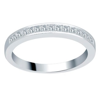 14k White Gold 1/3ct TDW Princess Wedding Band (H-I, I1-I2)