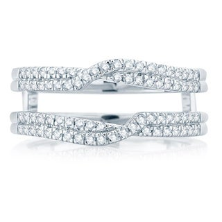 14k White Gold 3/8ct TDW Diamond Wrap Ring (H-I, I1-I2)