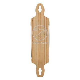 GoldCoast Classic Bamboo Drop Through Longboard Deck