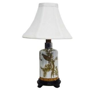 Autumn Phoenix Small Bottle Porcelain Lamp