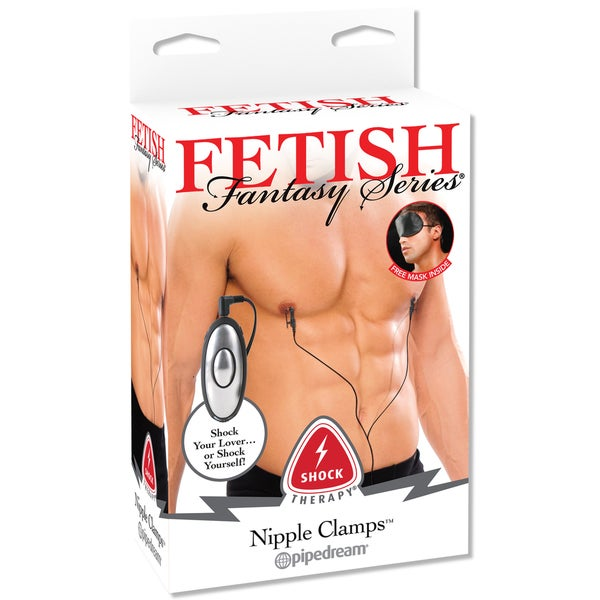 Fetish Fantasy Shock Therapy Nipple Clamps Black