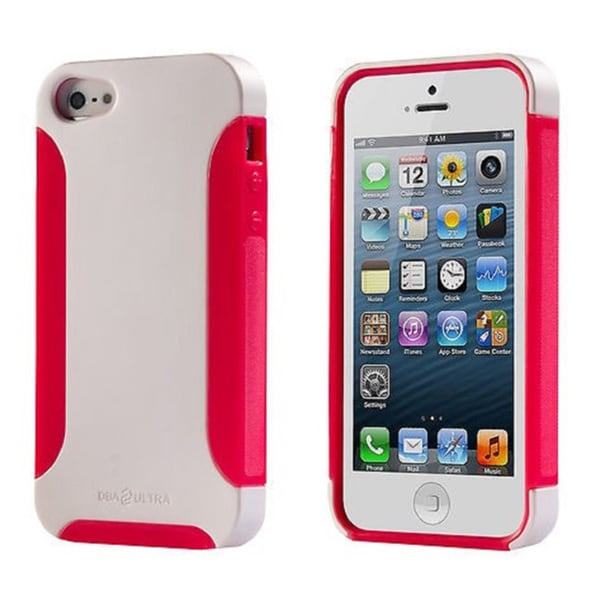 Ultra Complete White/ Pink Dual-layer Phone Case for Apple iPhone 5/ 5S