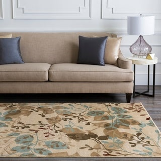 Meticulously Woven Epworth Floral Polypropylene Rug (2'2 x 7'6)