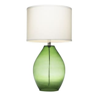 green glass table lamp trent glass 1 light green table lamp 16048960. Black Bedroom Furniture Sets. Home Design Ideas