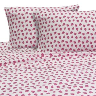 Melanie and Max Strawberries Twin Sheet Set
