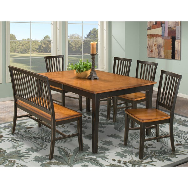 Arlington Black and Java 6-piece Dining Set