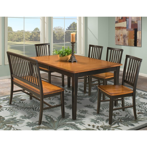 Arlington Black and Java 6-piece Dining Set