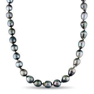 Miadora Tahitian Black Pearl Stand Necklace