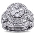 Miadora Signature Collection 10k White Gold 2 1/2ct TDW Round Diamond Bridal Set (G-H, I2-I3)