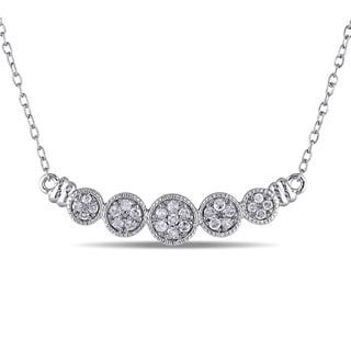 Haylee Jewels Sterling Silver 1/4ct TDW Diamond Necklace (G-H, I2-I3)