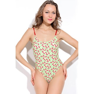 Dippin Daisy's Green Cherry High Cut Vintage One-piece Swimwear