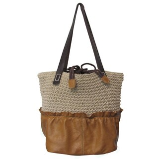 Amerileather Multi-fabric Ardin Tote Bag