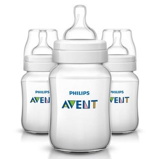 Philips Avent Classic Plus Polypropylene 9-ounce Bottle (Pack of 3)