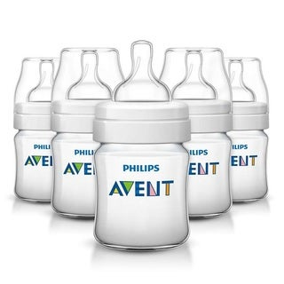 Philips Avent Classic Plus Polypropylene 4-ounce Bottle (Pack of 5)
