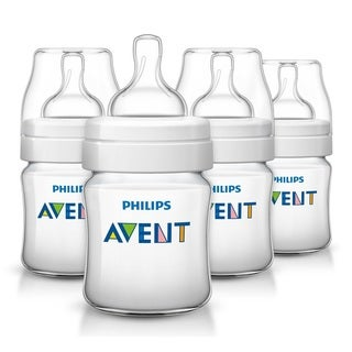Philips Avent Classic Plus Polypropylene 4-ounce Bottle (Pack of 4)