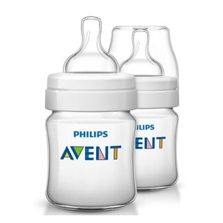 Philips Avent Classic Plus Polypropylene 4-ounce Bottle (Pack of 2)