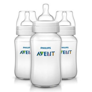 Philips Avent Classic Blue Plus Polypropylene 11-ounce Bottle (Pack of 3)