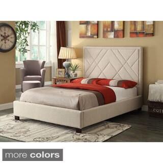 Erika Double Platform Linen Bed