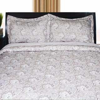 Ultra Soft Wrinkle Resistant Paisley 3-piece Duvet Set