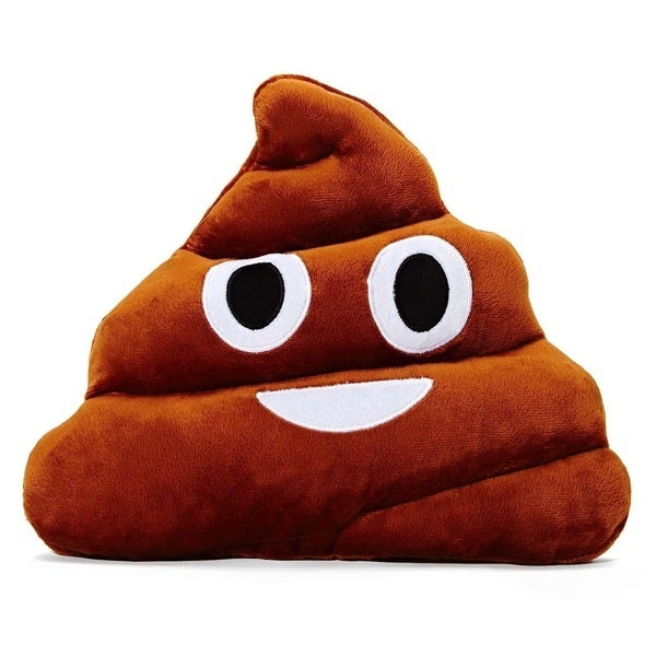 Emoji Poop Emoticon Plush Pillow