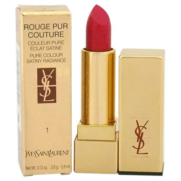 Yves Saint Lauren Rouge Pur Couture Pure Colour Satiny Radiance Lipstick # 1 Le Rouge