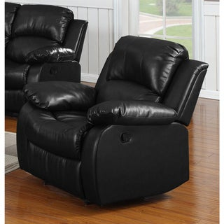 Single Bonded Leather Rocker Recliner