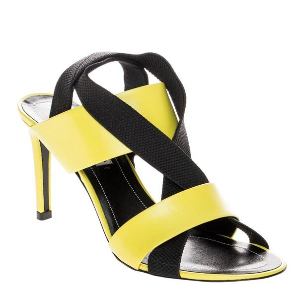 Balenciaga Mid-Heel Elastic Criss-cross Slingback Sandals