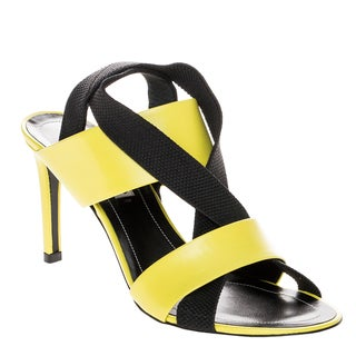 Balenciaga Mid-Heel Elastic Criss-cross Slingback Heels