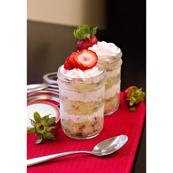 Strawberry Shortcake with Strawberry Souffle Buttercream