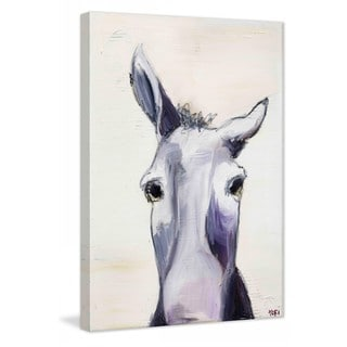 "Marmont Hill - ""Donkey"" by Tori Campisi Painting Print on Canvas"