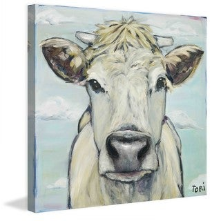 "Marmont Hill - ""When Cows Fly"" by Tori Campisi Painting Print on Canvas"