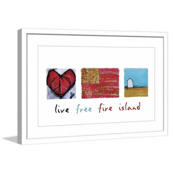 "Marmont Hill - ""Live Free Fire Island"" by Tori Campisi Painting Print in Frame"