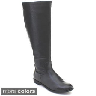 DBDK Denver-2 Women's Pattern Printing Side Zipper Flat Heel Knee-high Boots