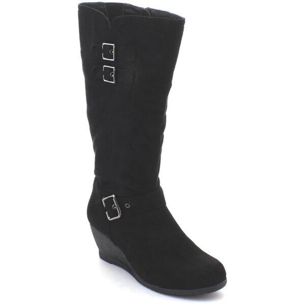 dbdk moniccaa 2 s comfy buckle wedge heel knee