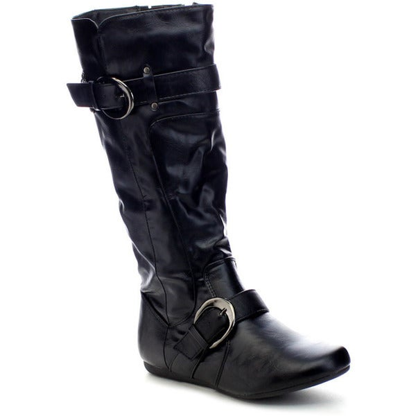 Forever Klein-81 Women's Knee-high Motorcycle Riding Boots