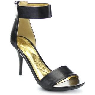 Mona Mia Neidra Women's Ankle Strap Stiletto Open Toe Zipper Dress Heels