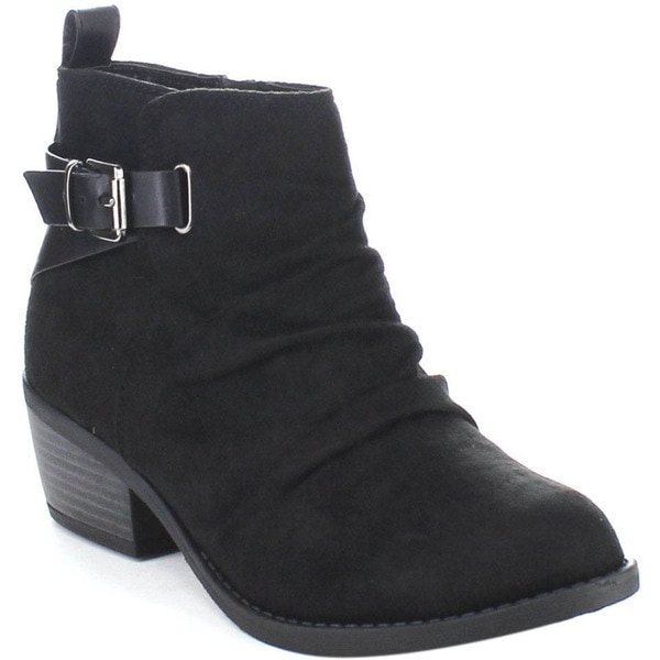 Soda Dante-s Women's Slouchy Inside Zipper Ankle Strap Party Bootie Casual Shoes