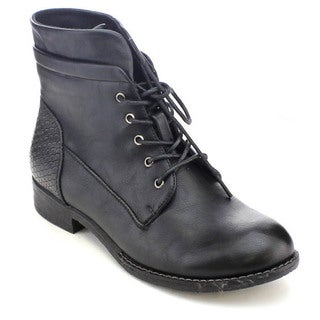 Via Pinky Elena-59 Women's Stylish Lace-up Combat Ankle Booties
