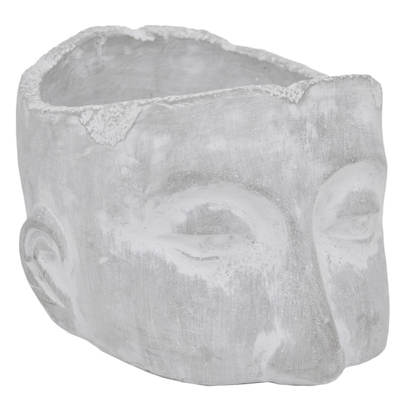 Grey Ceramic Head Planter