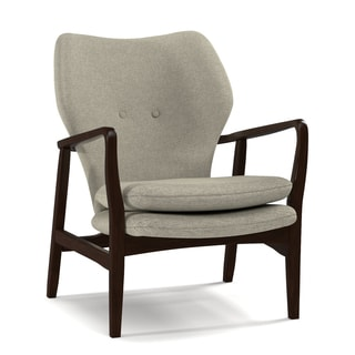 Portfolio Charlie Barley Tan Linen Arm Chair