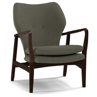 Portfolio Charlie Smoky Charcoal Gray Linen Arm Chair