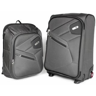 Ful Double Time 20-inch 2-in-1 Rolling Carry-on Upright Suitcase