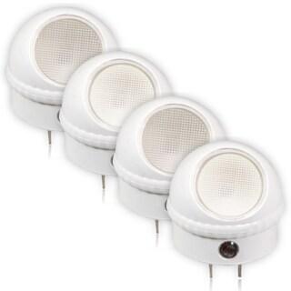 Maxxima Swivel Head LED Night Light With Sensor (Pack of 4)