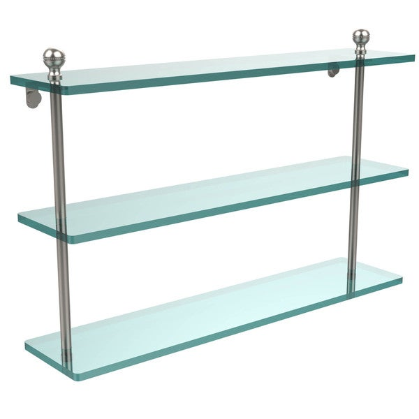 Mambo Collection 22-inch Triple Tiered Glass Shelf
