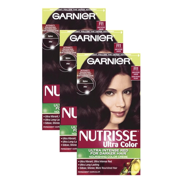 Garnier Nutrisse Ultra Dark Intense Auburn R1 (Pack of 3)