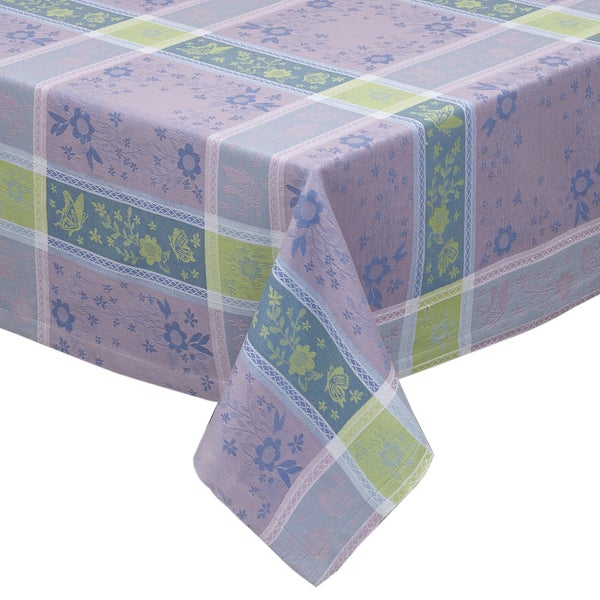 Spring Garden Jacquard Tablecloth