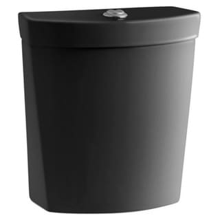 Kohler Persuade Dual Flush Toilet Tank Only in Black Black